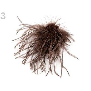 1pc 3 Brun Chêne Broche Avec des Plumes d'Autruche, des Broches, des Bijoux