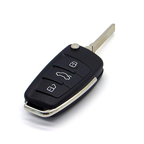 Remote-start-audi (Schlüssel für Audi 3 Tasten Gehäuse Funkschlüssel Fernbedienung Autoschlüssel Audi A1 A3 A4 A6 A8 Q3 Q5 Q7)