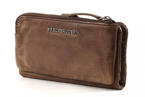 FREDsBRUDER Straight Cut S. C. Wallet Lucky Powder Taupe Marrone