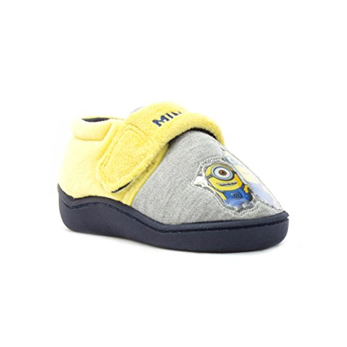 Despicable Me Minions Grey and Yellow Slipper - Size 9 - Multicolour