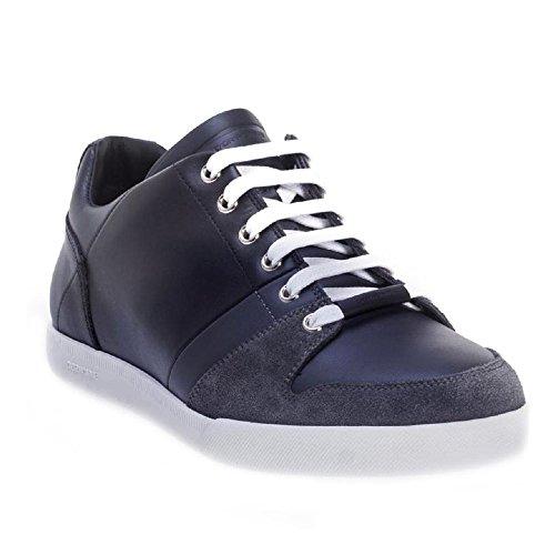 Baskets Dior sneakers homme en Cuir veau noir/bleu - Code modèle: 3SN129WUE Noir