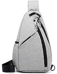Bolso de bandolera para hombres, bolsa de mensajero Moda casual Bolso en el pecho Mochila