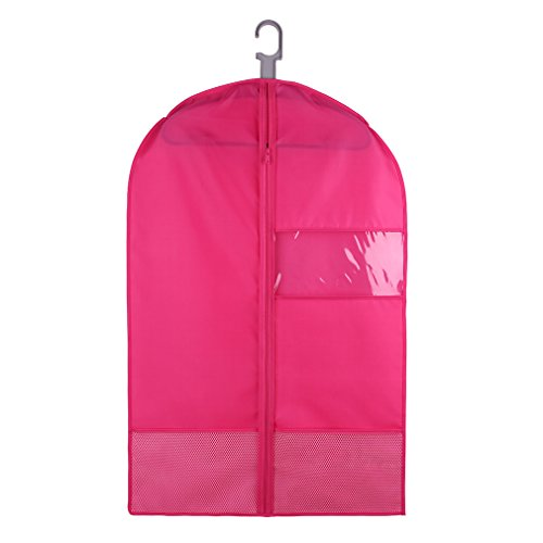Tyhbelle traspirante indumento Suit clothes Covers Bags rose Red 90cm (35.5