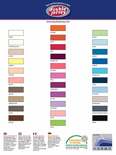 Double Jersey - Spannbettlaken 100% Baumwolle Jersey-Stretch bettlaken, Ultra Weich und Bügelfrei mit bis zu 30cm Stehghöhe, 160x200x30 Gelb - 8