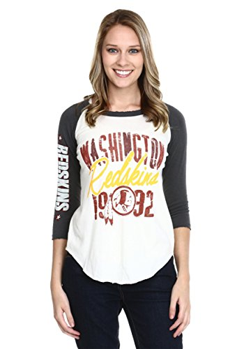 Washington Redskins All American Juniors Raglan Shirt Large (Shirt-junk Food Junior)