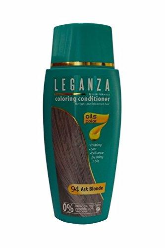 Leganza, Färbemittel Balsam für die Haare ohne Ammoniak, Farbe Blond Cendre N94, Naturöl 7.