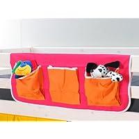 Preisvergleich für Thuka Stofftasche Hängetasche Organizer Aufbewahrung für Kinderbett Hochbett Bett pink