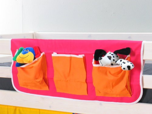 Thuka Stofftasche Hängetasche Organizer Aufbewahrung für Kinderbett Hochbett Bett pink