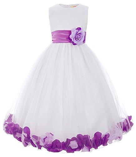 lumemaedchenkleider mit lila Blumen Floralkleid 10-11 Jahre (Cosplay House Kostüme)