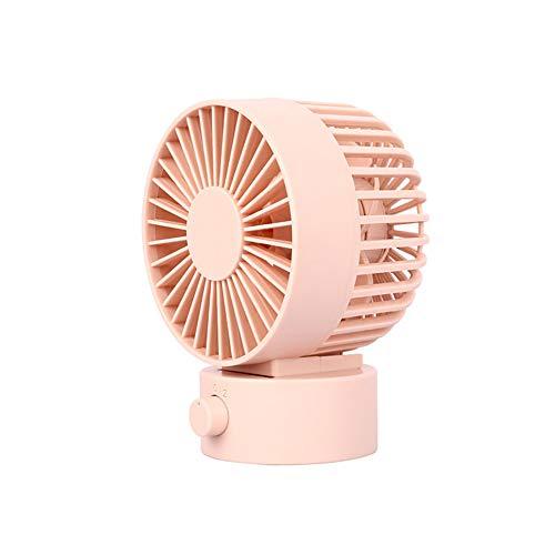 Mini-4s-fan (Gjlmfs Mode USB rotierenden stumm doppelblatt großen Wind kleinen Fan Mini Student schlafsaal Bett stumm tragbare tragbare Handheld bürodesktop (Pink))