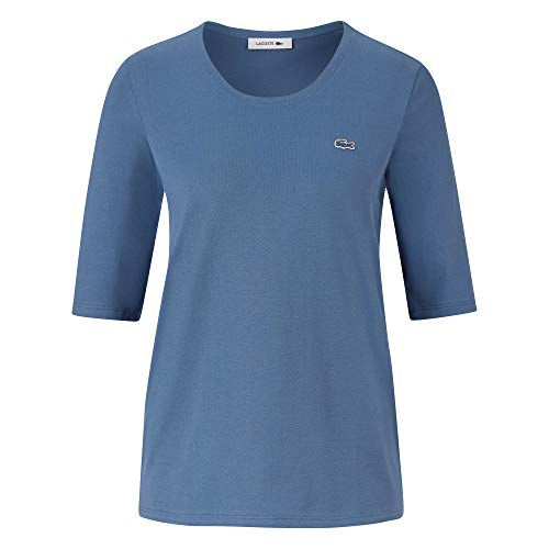 Lacoste Damen T-Shirt Rundhals TF5621,Frauen Basic Tshirt,Tee,Regular Fit,King(PQ8),38 EU