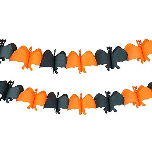 Halloween Papier hängend ein Bat Shape gespenstische Geist-hängende Girlande Bunting Banner für Halloween-Party-Dekoration-Stütze Beängstigend Prop Partei Club Dekoration Dekor Girlande Geist Flagge schwarz (Gespenstische Kostüme Geist Kind)