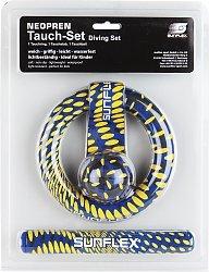 3er TAUCHSET Unsere innovativen und bewährten Tauchartikel im sunflex 3er TAUCHSET bestehend aus 1 Tauchring, 1 Tauchball, 1 Tauchstab. Farben sortiert. In Blisterverpackung.