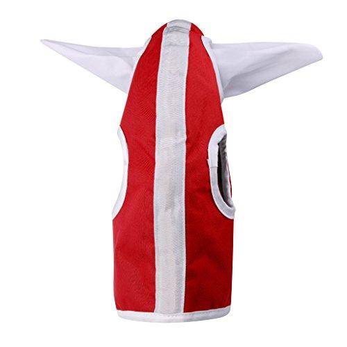 perfk Pferd Tragbar Fliegenmaske UV-Schutz Ohren und Nasenschutz Gesicht Maske,Rot