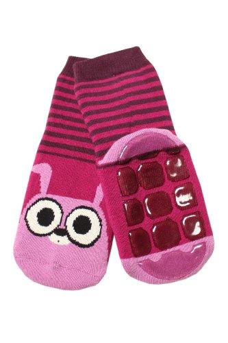 Weri Spezials Kinder Voll-ABS Socke Hase Motiv in Beere Gr.18-19 (1 Jahre)