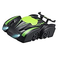 RC Cars Toy Remote Control Wall Climbing Car Toy Wall Climber Truck with 2.4 Ghz Radio Sport, Racing Vehicle Mini Gravity Stunt Car, Kids Children Electric Car Toys (Green)