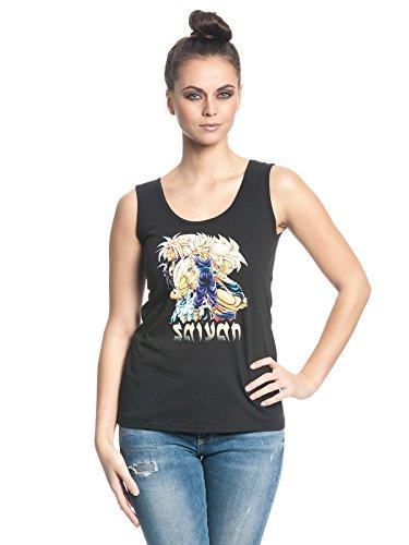 Dragonball Z Saiyan Family Top donna nero XL