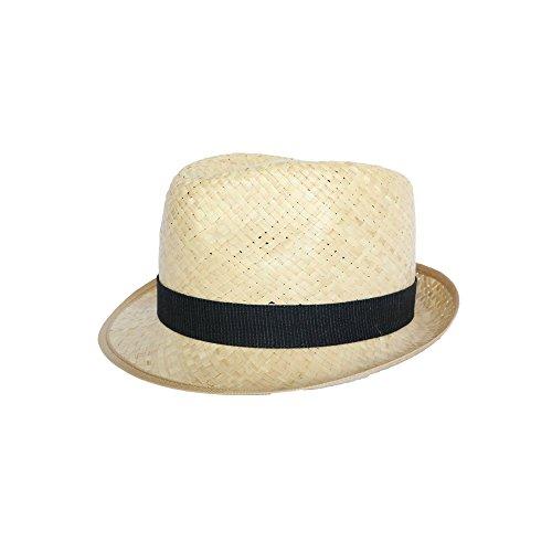 Olney Headwear Limited - Chapeau paille Georges en raphia naturel - Beige L    58- 38a5973b5a0f