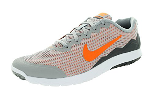 Nike Flex Experience Rn 4, Chaussures de Running Compétition Homme Wlf Gry/Ttl Orng/Drk Gry/White