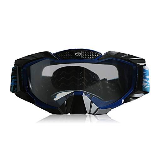 Sonnenbrille Quadratisch Mountainbike Schutzbrillen Motorrad Langlaufbrillen Warme Skibrillen Wind Und Staubschutzbrillen Transparent Blue Black Damen Herren
