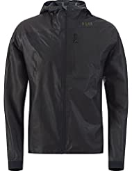GORE RUNNING WEAR Homme Veste de Course et de Pluie à Capuche, Imperméable, GORE-TEX Active, Technologie Produit SHAKEDRY, ONE GORE-TEX Active Run Jacket, Noir, JROFOR