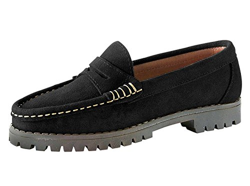 Mocassins femme en daim de best connections Noir