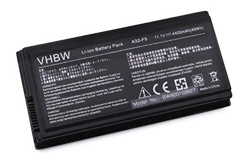 Variation vhbw Li-Ion Batterie 4400 mAh (11.1 V) pour ordinateur portable ASUS X59GL, X59S, X59SL X59SR, comme A32-F5 F5, A32-F5 X50, batas2000 et autres..