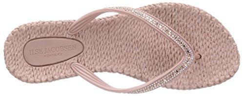 Ilse Jacobsen - Damen Flip Flops Mit Strasssteinen, Beet15, Sandali infradito Donna Rosa (Pink (Misty Rose (900)))