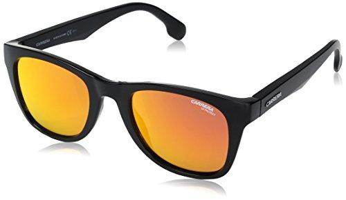 Carrera Unisex-Erwachsene 5038/S UZ PPR Sonnenbrille, Schwarz (Bk Metallic/Red Fl), 51
