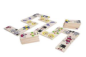 Lena 32167-Madera Juguete Domino Circo de 100% FSC Madera, Multicolor