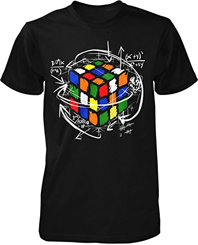 Rubik Cube T-Shirt Zauber Kult Retro Oldschool Würfel Fun 90er Trend Magic Nerd (Retro Männer T-shirt)
