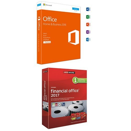 Microsoft Office Home and Business 2016 und Lexware financial office 2017 (365 Tage) Bundle