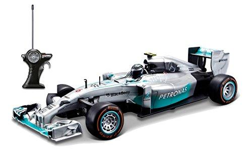 Maisto 81082 - Fahrzeug - 1:24 R/C Formel 1 Mercedes, Rosberg, silber