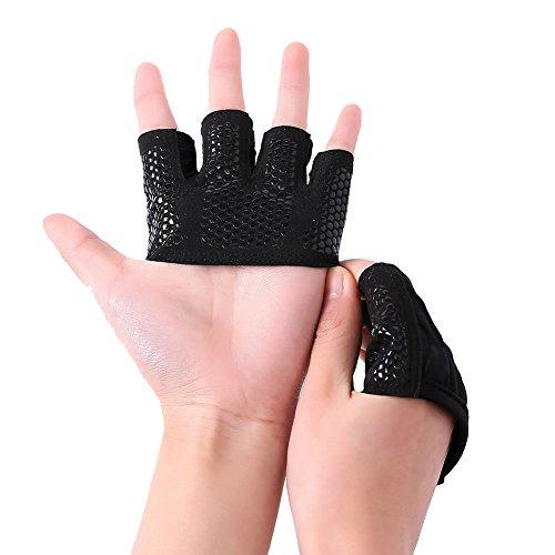 PengGeng Damen Sehr Warme Gewichtheben Fingerlose Handschuhe Winter Fahrradhandschuhe Security Schwarz S