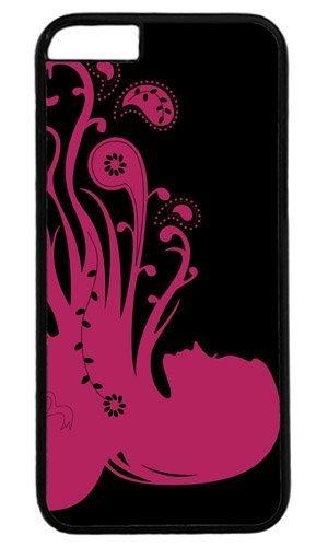 Abstract Psychedelic Girl Rose personnalisé de Pâques Masterpiece limitée Coque pour iPhone 5C PC Noir par cas & Souris