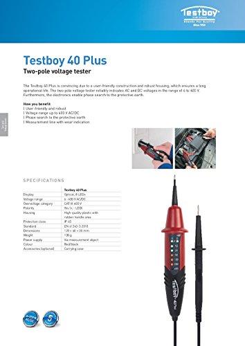 Testboy Testboy 40 Plus Spannungstester Testboy 40N, 6-400V, 8LED Anzeige