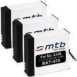 3x Batterie per SJCAM SJ6 Legend WiFi (Black / Silver / Rose Edition), SJ6000 Legend