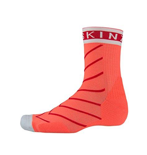 SealSkinz Damen Single Layer Lightweight Breathable Socken, Coral/Red/White, L/XL Preisvergleich