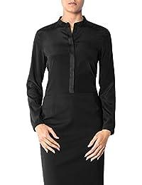 4fe60b85040b Joop! Damen Bluse Mikrofaser Blusenshirt Unifarben, Größe  36, Farbe   Schwarz