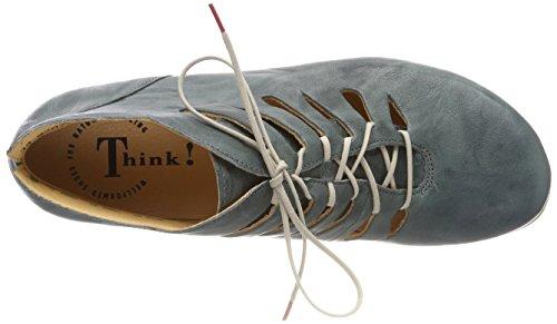 Think! Menscha_282078, Desert Boots Femme Bleu (Agave/kombi 65)