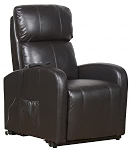 Yorkley Single Motor Electric Riser Recliner Chair Rise & Recline Lift Armchair - Brown