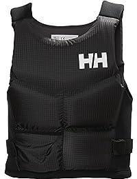Helly Hansen Rider Stealth Chaleco Salvavidas, Unisex Adulto, Gris (Ebony), 60/80 kg