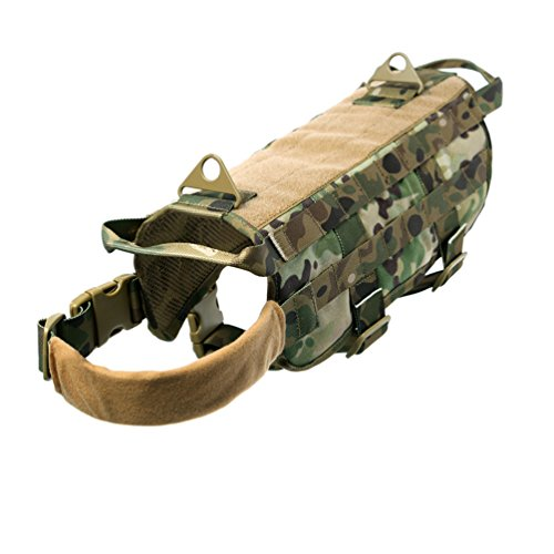 Tactical gilet Dog Training molle 1000d Cordura strofinacci da tessuto,