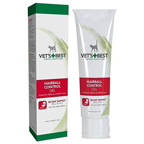 VET`S BEST Katzen Nahrungsergänzung - Gel zur Förderung der Haarballenausscheidung und zur Unterstützung der Verdauungsfunktion.