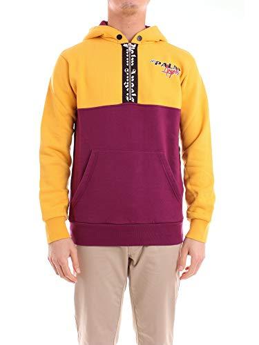 Palm Angels PMBB037F18441029 Sweatshirt Harren Gelb und Lila S Palm Pullover