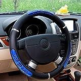 Drangon Design Leather Auto Car Steering Wheel Cover 38CM/15'' Anti-Catch