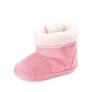 Auxma Baby Schuhe Baby Soft Sole Schnee Stiefel Weiche Krippe Schuhe Kleinkind Stiefel Für 0-6 6-12 12-18 Monat (11cm/0-6 M, Wassermelonenrot)