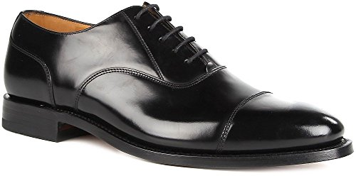 Loake Men's 200B Capped Oxford Lace-Up Polished Leather Shoes (11 UK, Black)