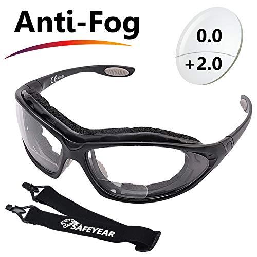 SAFEYEAR Schutzbrille Sicherheitsbrille Arbeitsbrille - SG002BK mit Kratzfester Scheibe von...