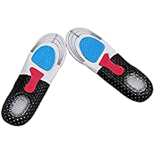 DALUCI Silicone Gel Insoles Orthotic Arch Support Sport Running Cushion Insert Shoe Pad